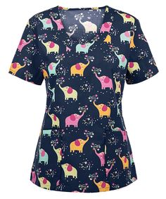 Have fun at work with the Tasha & Me Elephants Just Wanna Have Fun Print Top. Find fun, cute, and professional scrubs at Uniform Advantage! Discount Scrubs, Stylish Scrubs, Uniform Advantage, Fun At Work, Scrub Tops, Fun Prints, Floral Tops, Have Fun, Men Casual
