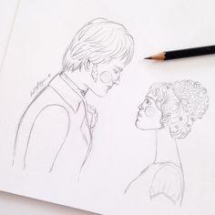 Orgulho e Preconceito - Sketch por @helloluizaillustrations