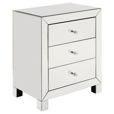 Abingdon Mirrored Accent Table - Clear