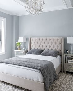 Master Bedroom Wall Color An Airy Natural Palette Makes For A Restful Walls Coventry Gray Via