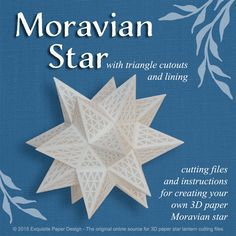 Moravian Paper Star w Triangle Cutouts  SVG CUTTING FILE