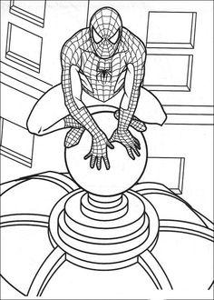 Spiderman Målarbilder för barn. Teckningar online till skriv ut. Nº 26