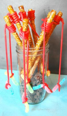 Pretzel Fishing Rods | The TipToe Fairy