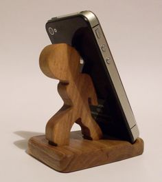 Wooden Phone Stand Desktop Phone Holder by WooDesign2 on Etsy