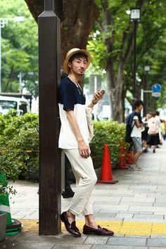 Daisuke Kojima in Harajuku wearing 417, Johnston, UNIQLO   Fashionsnap.com