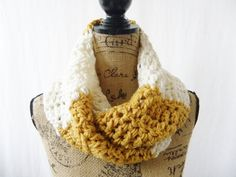 Ready To Ship The Reagan Mustard Gold Ivory by SouthernStitchesCo, $24.00