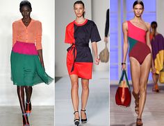 The fashion trend of color blocking has been a very noticeable fashion trend in the past few months. Cheerful colors for spring were used in color blocking not only for clothes but for shoes as well. Most design bloggers would suggest that you stick to only 3 colors max to avoid the look rainbow brite look. Jasmine B.