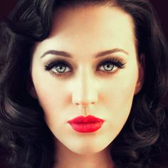 Katy Perry - gorgeous!  Would love to be able to pull off her gorgeous hair and eyes!  Makeup too..