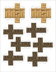 Heroclix various crates papercraft