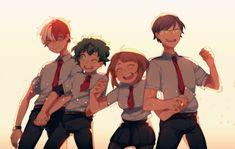 everyday i cry because of these wonderful kids Boku No Hero Academia, My Hero Academia Memes, Hero Academia Characters, My Hero Academia Manga, Asui Boku No Hero, Iida, Haikyuu Anime, Anime Shows, Me Me Me Anime