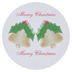 #Gold #Bells Christmas Paper #Coasters