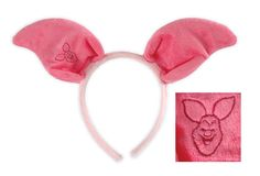 Look adorable as little timid Piglet in the Winnie The Pooh Piglet Ears Costume Headband.