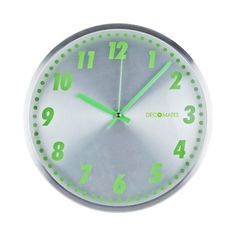 DecoMates Non-Ticking Silent Wall Clock - Aluminum Green Clocks Back, Ticks, Simple Designs, Slot, Abs, Green, Simple Drawings, Crunches, Abdominal Muscles