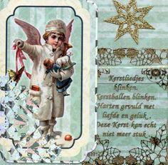 Kerstengel met tekst