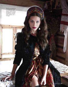 The Look: Russian Elle November 2012 featuring Irina Vodolazova photographed by Asa Tallgard and styled by Daria Anichkina.