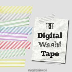 Free Striped Digital Washi Tape - A Typical English Home