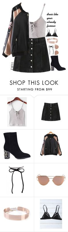 """""""Stylish Street Style"""" by lanadelnotyou ❤ liked on Polyvore featuring intrend and satinbomber"""