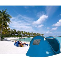 Large 3-4 Person Outdoor C&ing Instant Tent Pop Up Canopy Hiking Beach Shelter : 10 second tent - memphite.com
