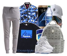 """""""$$$"""" by xbad-gyalx ❤ liked on Polyvore featuring Samsung, NIKE, MCM, Topshop, Retrò and Chopard"""