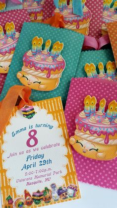 12- Shopkins Inspired Birthday Invitations by JoosyPartyCompany on Etsy