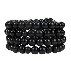 * * 108 ebony wood beads on coiled memory wire, about 4 line * Bracelet is made up of 2 sizes of ebony wood beads - - 99 beads in an 8mm size - - 9 beads in a 6mm size * Wear for beauty, meditation, a