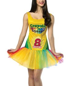 Take a look at this Yellow Crayola Crayon Box Dress-Up Outfit - Women by Rasta Imposta on #zulily today!