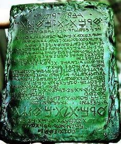 The Emerald Tablets of Thoth The Atlantean (Smaragd Tablet)  One of the biggest mysteries...