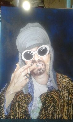 Kurt Cobain of the band Nirvana. Original art by Jodi Hess