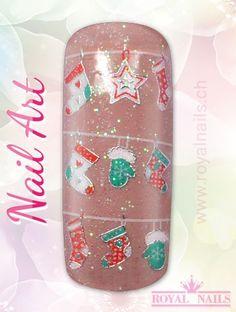 Christmas - Weihnachten Nail Art Design Inspiration Nr. 271 #christmas #weihnachten #santa-claus #nail-art #nailart #winter-holidays