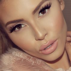 """love this look by jade (kissable complexions) using ABH shadows and house of lashes """"iconic""""."""