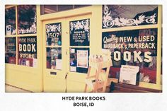 This bookstore was opened with a 300 dollar investment by Russell Barnes in April, 1983. One month later and one mile to the southeast, I was born.   Twenty-eight years later, I became the new owner of Hyde Park Books, now in its 30th year of business.   Viva la Réaders!