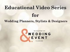 http://www.ukawep.co.uk How to become a Wedding Planner - A Video Series to Help You Get Started in the world of weddings! #WeddingPlanner