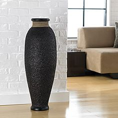 @Overstock - Accent your home with the earthy tones of this hand-painted Urn vase from Indonesia. True artisans handcraft this Ubud rice husk vase featuring a heavily textured finish.http://www.overstock.com/Worldstock-Fair-Trade/Ubud-Rice-Husk-Decorative-Urn-Vase-Indonesia/5528674/product.html?CID=214117 $120.44
