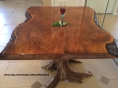 Rustic furniture and wood decor by LGWoodWonders Rustic Elegance, Rustic Furniture, Dining Table, Wood, Vintage, Home Decor, Decoration Home, Woodwind Instrument, Room Decor