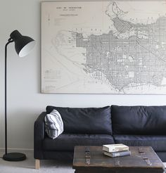 Map of Vancouver, Vintage Maps // anewall.com