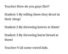Student 1: Annabeth to Percy Jackson. (The Lighting Thief) Student 2: Four to Tris (Divergent) Student 3: Peeta to Katniss (The Hunger Games)