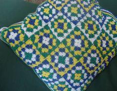 Almofada de Crochê - Brasil