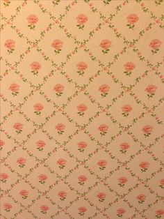 Vintage Laura Ashley wallpaper 'Kate' in my house