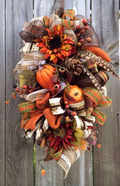 Deluxe Fall Swag- a Ba Bam Wreath Original