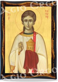 Saint Stephen Greek Orthodox Russian Mount Athos Byzantine Christian Catholic Icon on Wood Byzantine Icons, Byzantine Art, Catholic Saints, Patron Saints, Religious Icons, Religious Art, Day Of Pentecost, Saint Stephen, Orthodox Icons