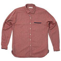 Oliver Spencer Tab Shirt (Caradale Red)