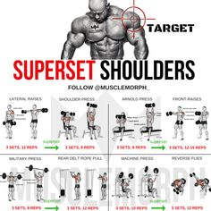 SUPERSET SHOULDER SHOULDER WORKOUT EXERCISE GYM MUSCLEMORPH MUSCLEMORPH SUPPS BODYBUILDING BOULDER SHOULDERS #ShoulderWorkouts
