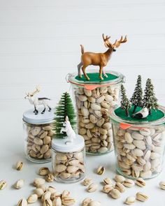 Edible gifts are always a treat. Put the special people on your list in the holiday spirit. Dress up a delicious jar of pistachios by building playful, scene-setting dioramas on top. It's all about giving gifts made with love and sharing special times with friends and family. Make the most of both with pistachios!