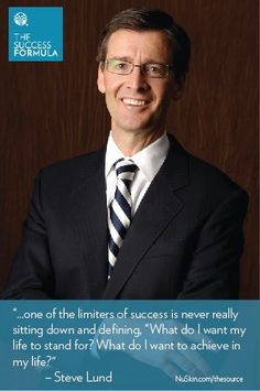 Success Formula Quote - Steve Lund, Nu Skin Executive Chairman of the Board and Executive Director of Nourish the Children