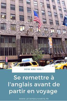 Vous partez en voyage à l'étranger, et vous vous dites qu'il faut se remettre à l'anglais avant de partir ? Je vous donne mes conseils pour reprendre l'anglais, et rafraîchir vos connaissances.  L'anglais est l'une des langues internationales du voyage, c'est une langue très utilisée dans les aéroports, notamment.  Je vous propose ici 3 clés pour vous remettre à l'anglais efficacement. Weekend France, Voyager Seul, Voyage New York, Destinations, Student Travel, Blog Voyage, Trek, Budgeting, Travel Tips