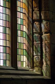 Beautiful light shining from a Church window!