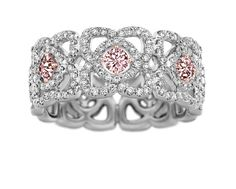A girl can dream...  Enchanted Lotus Band Ring  De Beers pink and white diamonds set in rose and white gold.
