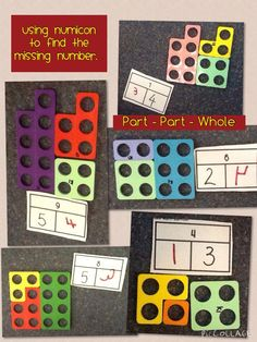 Using numicon to understand the missing numbers in part/part/whole concept Year 1 Maths, Early Years Maths, Early Math, Early Learning, Maths Eyfs, Eyfs Classroom, Classroom Displays, School Classroom, Classroom Ideas