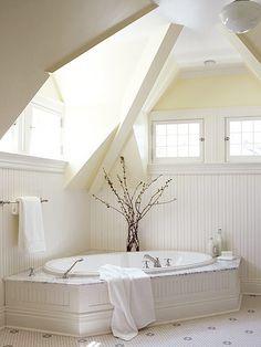 Under the eves bath tub