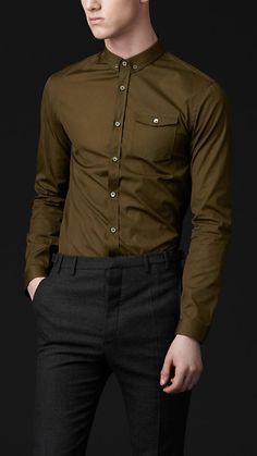 Burberry Prorsum Straight Fit Button-Down Shirt